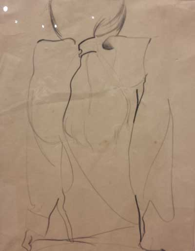 Seated Figure by Linda Ewing